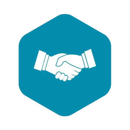 Handshake icon. Simple illustration of handshake vector icon for web