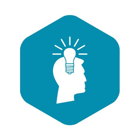 Light bulb idea icon. Simple illustration of light bulb idea vector icon for web  イラスト・ベクター素材