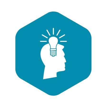 Light bulb idea icon. Simple illustration of light bulb idea vector icon for web Illustration
