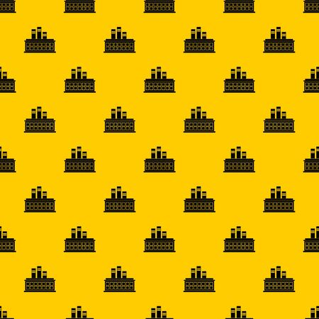 Oil refinery plant pattern vector