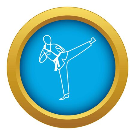 Wushu master icon blue vector isolated on white background for any design 向量圖像