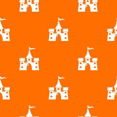 Castle building pattern vector orange Foto de archivo - 127952851