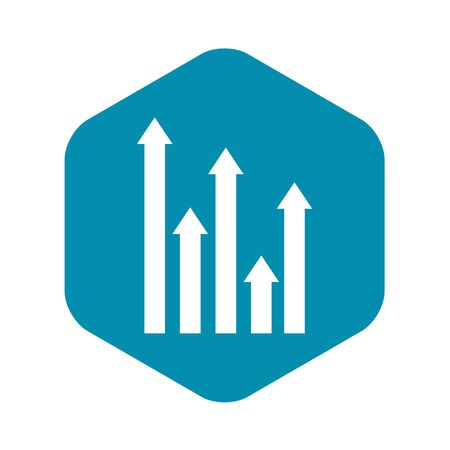 Upside growing arrows icon. Simple illustration of upside growing arrows vector icon for web design