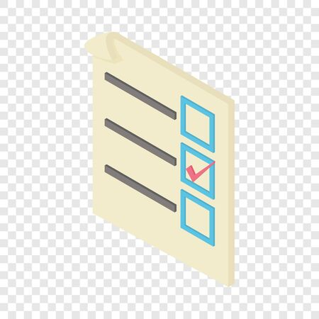 Form voting icon. Isometric illustration of form voting vector icon for web 向量圖像