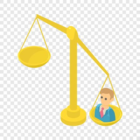 Libra icon. Isometric illustration of libra vector icon for web