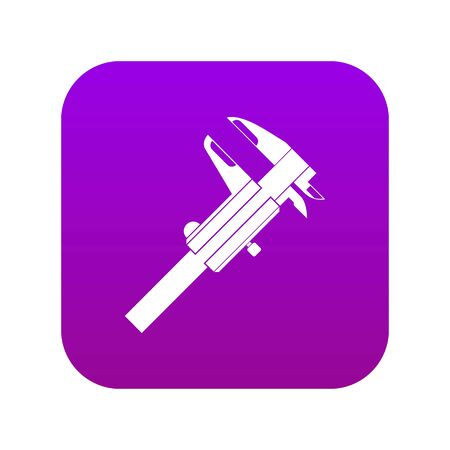 Calipers icon digital purple for any design isolated on white vector illustration Illustration