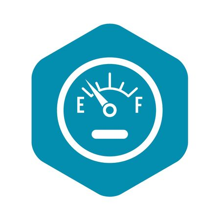 Fuel sensor icon, simple style