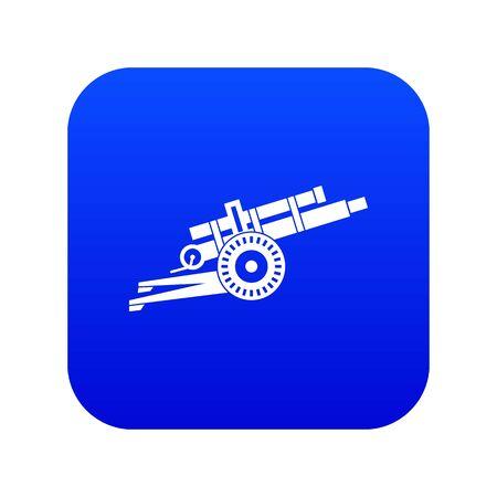 Artillery gun icon digital blue