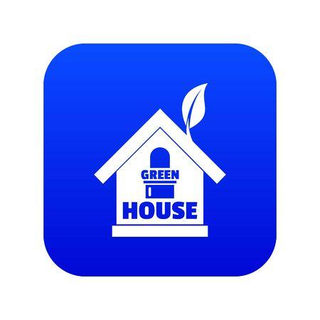Green house icon blue Reklamní fotografie