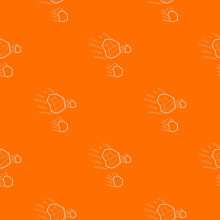 Throwing stones pattern orange