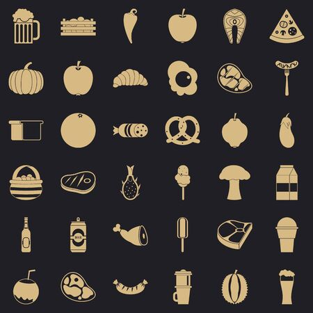 Breakfast icons set, simle style Banque d'images - 128219890