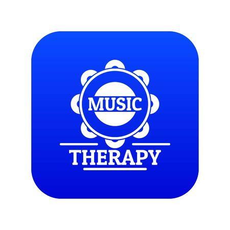 Tambourine icon blue