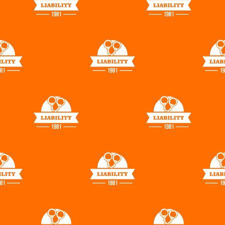 Liability pattern orange