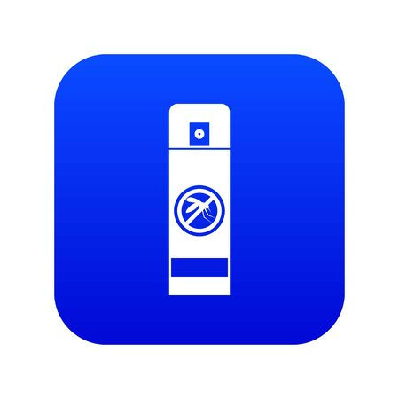 Mosquito spray icon digital blue