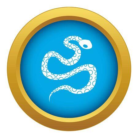 Python snake icon blue isolated