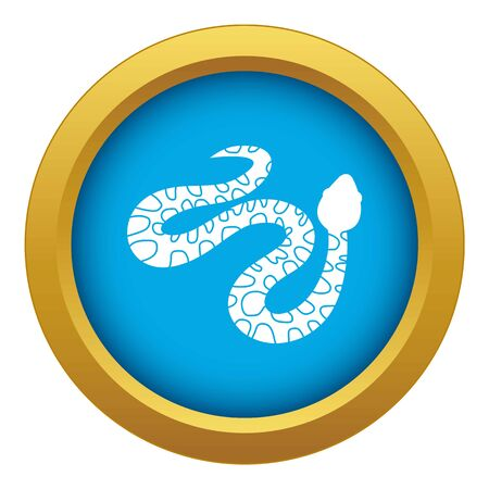 Spotted snake icon blue isolated Imagens
