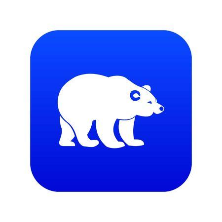 Bear icon digital blue