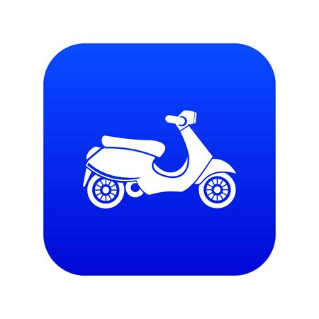 scooter icon digital blue