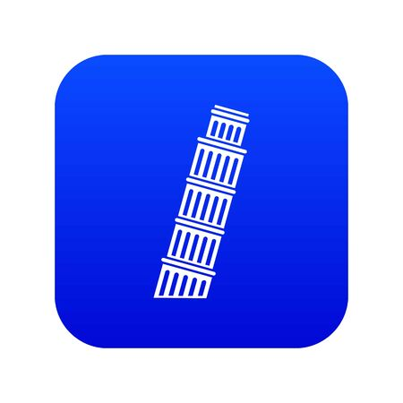 Tower of pisa icon digital blue