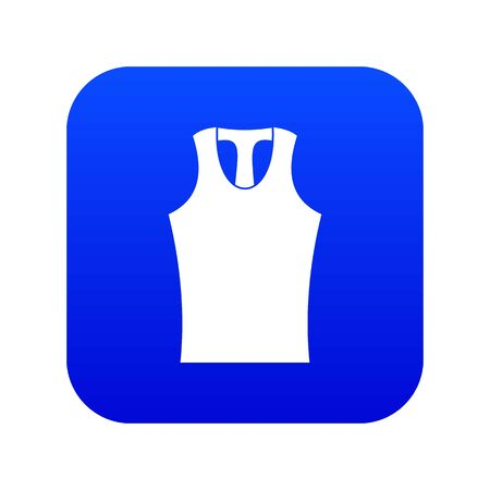 Sleeveless shirt icon digital blue