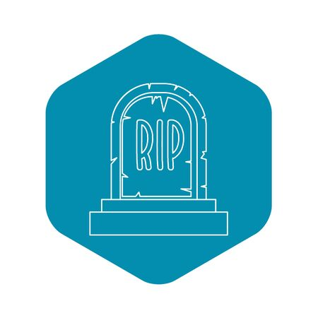 Tombstone icon, outline style