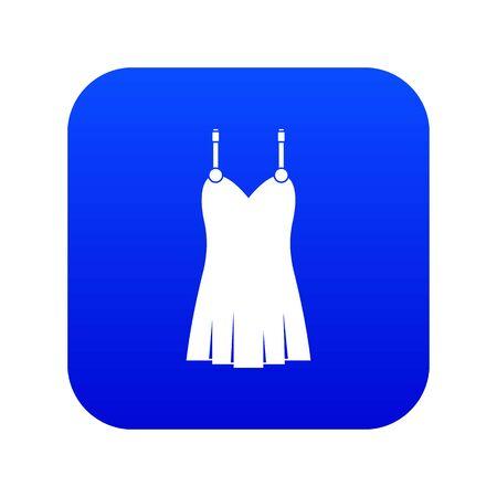 Nightdress icon digital blue