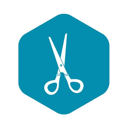 Stationery scissors icon, simple style