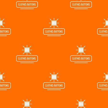 Clothes button pattern orange