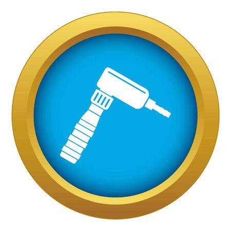 Hand draw rotary tattoo machine icon blue isolated 版權商用圖片