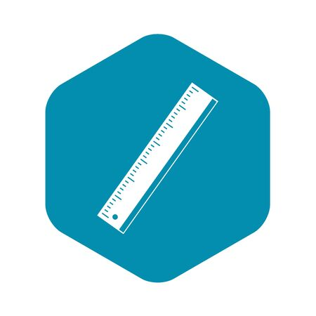 Yardstick icon, simple style Фото со стока