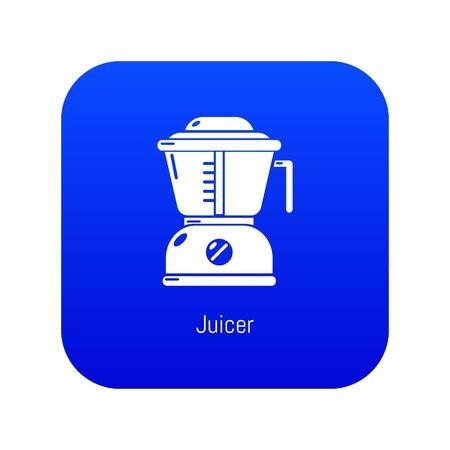 Juicer icon blue Stock Photo