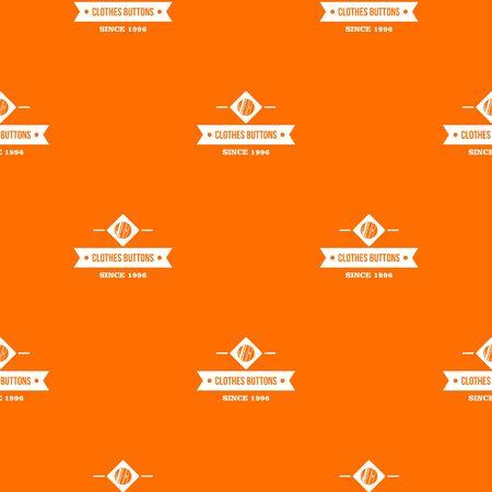 Clothes button element pattern orange
