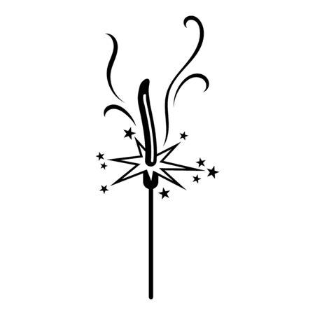 Sparkler icon, simple style Stock fotó