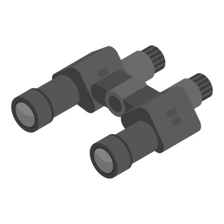 Hunter binoculars icon, isometric style