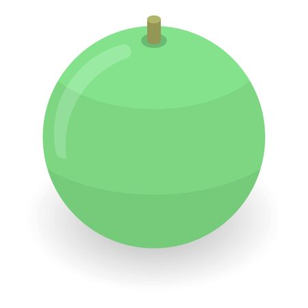 Green fitness ball icon, isometric style Stockfoto
