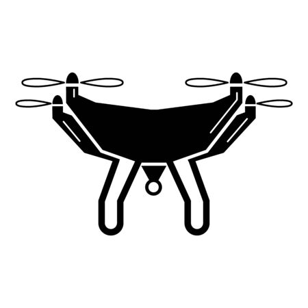 Videography drone icon, simple style