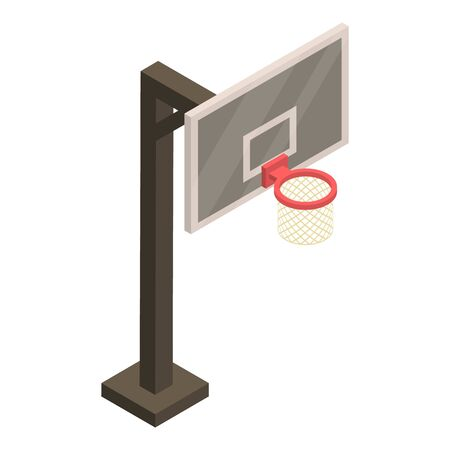 Metal basketball tower icon, isometric style 版權商用圖片
