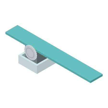 Diving board icon, isometric style