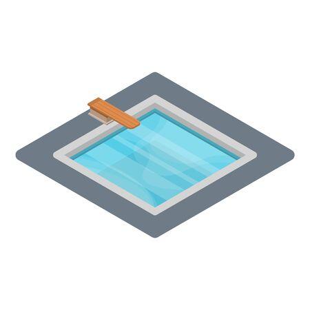 Home pool icon, isometric style Stock Photo