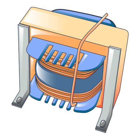 Magnetic coil icon, cartoon style
