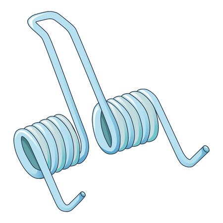 Double spring coil icon, cartoon style