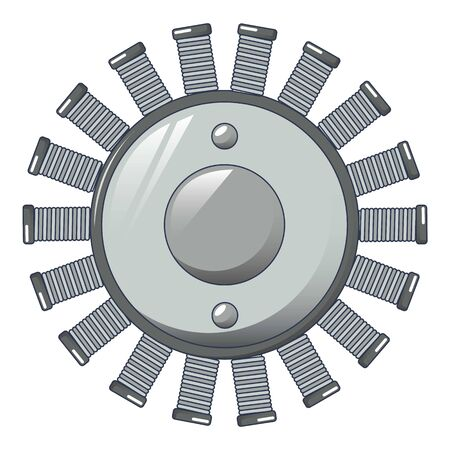 Multiple coil icon, cartoon style