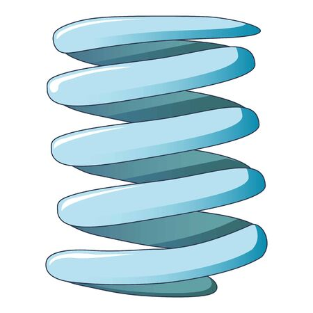 Flexible coil spring icon, cartoon style Archivio Fotografico - 128002660