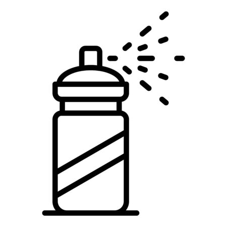 Mite spray bottle icon, outline style Archivio Fotografico