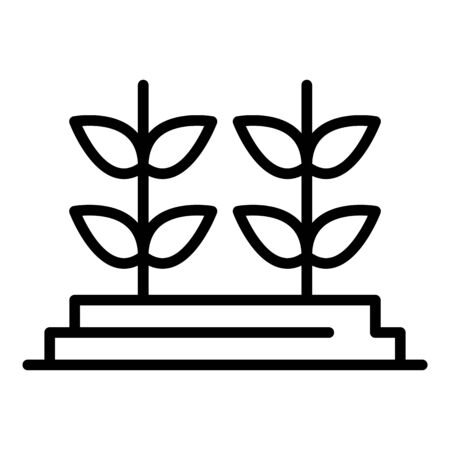 Genetically modified plants icon, outline style