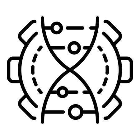 Genetic engineering icon, outline style