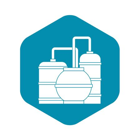Gas storage tanks icon. Simple illustration of gas storage tanks vector icon for web