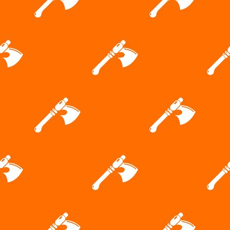 Ancient ax weapon pattern vector orange for any web design best Illustration