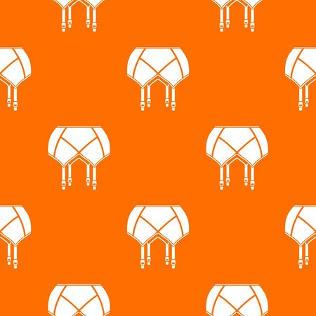 Underwear pattern vector orange