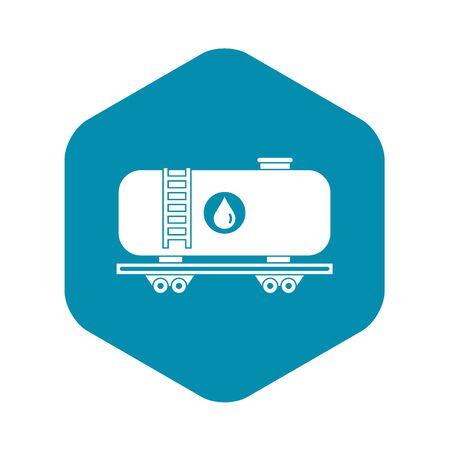 Oil railway tank icon, simple style 일러스트